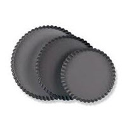 "Picture of 9.5"" Round Fluted Tartlet Mould, Loose Bottom Non-Stick H2.6 cm. (GC280-8592)"