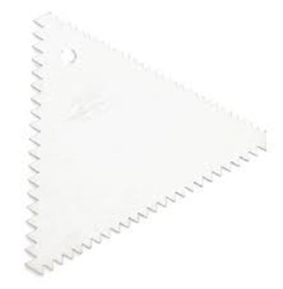 Picture of Cake Scraper Decorating Comb Triangular Plastic 10x10x10 cm. (GC280-8227)