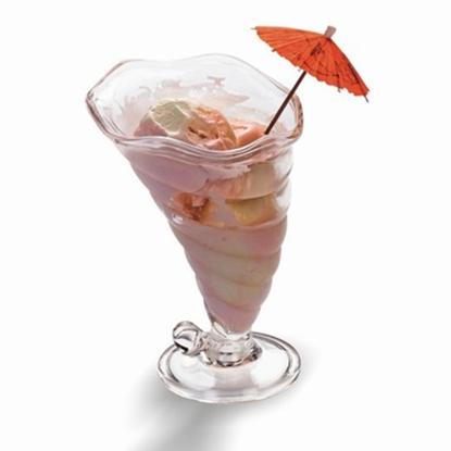 Picture of Polycarbonate Tornado Ice Cream Bowl, 400ml D12xH17.5 cm. (GC226-9254)