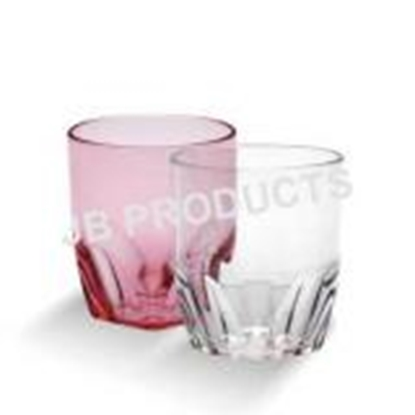 Picture of Polycarbonate Pleated Bottom Glass 350 ml. D8.3xH9.5 cm. (GC226-8504)