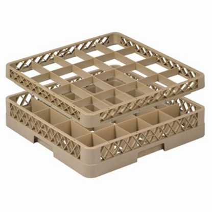 Picture of 20 Compartment Glass Rack Extender L50xW50xH5 cm., Beige Color Compartment Size: 11.5x9 cm. (GC226-JB-202)