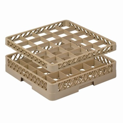 Picture of 25 Compartment Glass Rack Extender L50xW50xH4.5 cm., Beige Color Compartment Size: 9x9 cm. (GC226-JB-252)