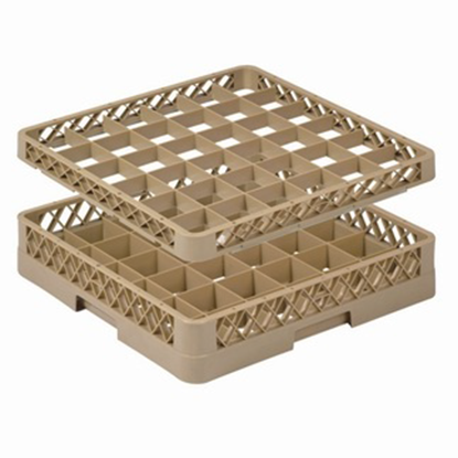 Picture of 36 Compartment Glass Rack L50xW50xH10 cm., Beige Color Compartment Size: 7.5x7.5 cm. (GC226-JB-36)