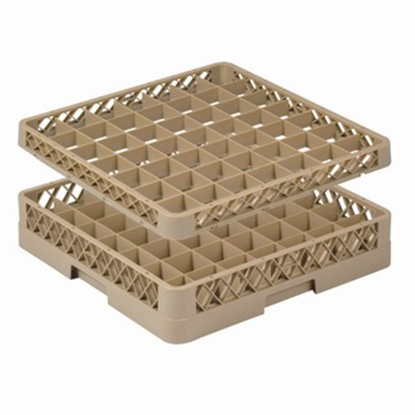 Picture of 49 Compartment Glass Rack Extender L50xW50xH5 cm., Beige Color Compartment Size: 6.5x6.5 cm. (GC226-JB-492)