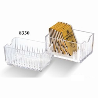 Picture of Acrylic Tea/Sugar Bag Storage Box L11xW6.5xH5.5 cm. (GC226-8330)