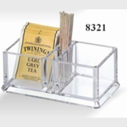 Picture of Acrylic Tea Bag Storage Box 4-Compartments 14.8x8.2x6 cm. (GC226-8321)