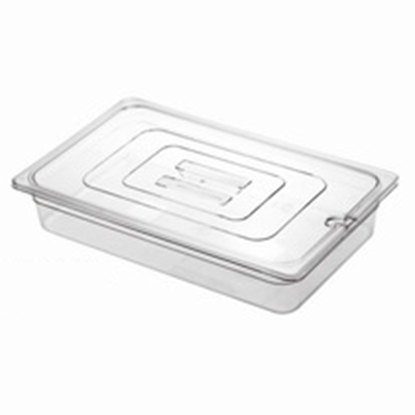 Picture of Polycarbonate Gastronorm Pan 1/1 Lid With Spoon Notch, L53xW32.5xH2.5 cm. (GC226-8600-KOU)