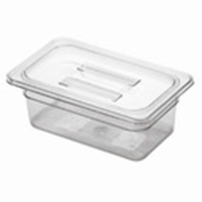 Picture of Polycarbonate Gastronorm Pan 1/4 Lid, L26.5xW16.2xH2.4 cm. (GC226-8603)