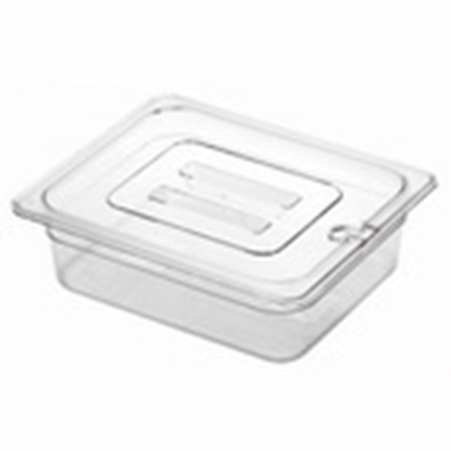Picture of Polycarbonate Gastronorm Pan 1/2 Lid With Spoon Notch, L32.5xW26.5xH2.5 cm. (GC226-8601-KOU)