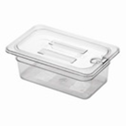 Picture of Polycarbonate Gastronorm Pan 1/4 Lid With Spoon Notch, L26.5xW16xH2.5 cm. (GC226-8603-KOU)