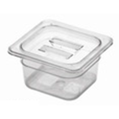 Picture of Polycarbonate Gastronorm Pan 1/6 Lid, L17.5xW16xH2.6 cm. (GC226-8604)