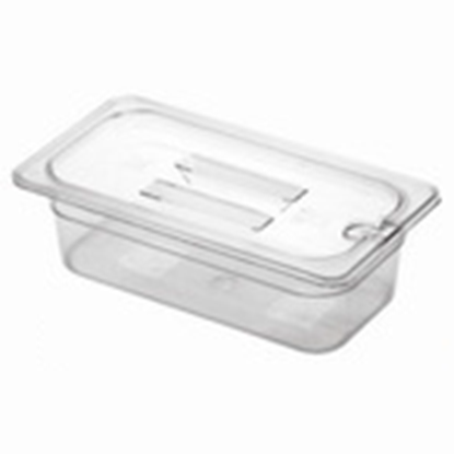 Picture of Polycarbonate Gastronorm Pan 1/3 Lid With Spoon Notch, L32.5xW17.5xH2.5 cm. (GC226-8602-KOU)