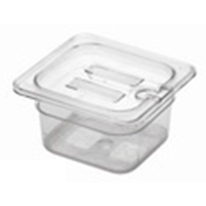 Picture of Polycarbonate Gastronorm Pan 1/6 Lid With Spoon Notch, L17.5xW16xH2.6 cm. (GC226-8604-KOU)