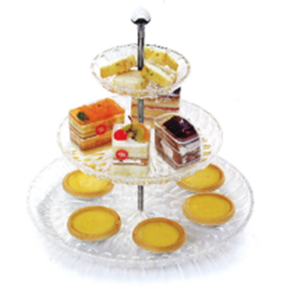 Picture of Polycarbonate 3 Tiered Cake/Fruit Stand D35xH36.8 cm. (GC226-655)