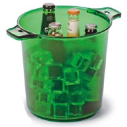 Picture of Polycarbonate Ice Bucket 3260 ml. 28x21.5x21.5 cm. (Green) (GC226-8038-GREEN)
