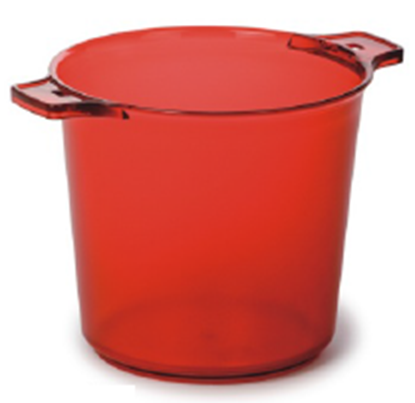 Picture of Polycarbonate Ice Bucket 3260 ml. 28x21.5x21.5 cm. (Red) (GC226-8038-RED)