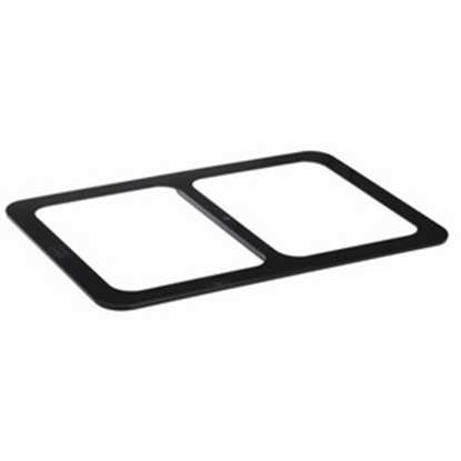 Picture of Polycarbonate Gastronorm Divider For Food Display Stand, Black Color, 2 Cavities (GC226-8644-BLACK)