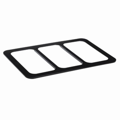 Picture of Polycarbonate Gastronorm Divider For Food Display Stand, Black Color, 3 Cavities (GC226-8645-BLACK)