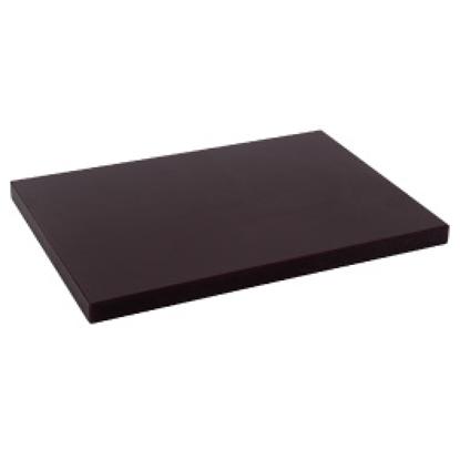 Picture of Polyethylene Cutting Board Coffee L50.0xW35.0xH3.0 cm. (GC086-1500-COFFEE-50X35X3)