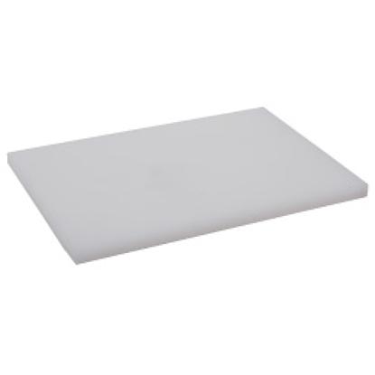 Picture of Polyethylene Cutting Board White L60.0xW40.0xH4.0 cm. (GC086-1500-WHITE-60X40X4)
