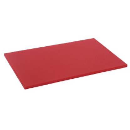 Picture of Polyethylene Cutting Board Red L60.0xW40.0xH4.0 cm. (GC086-1500-RED-60X40X4)