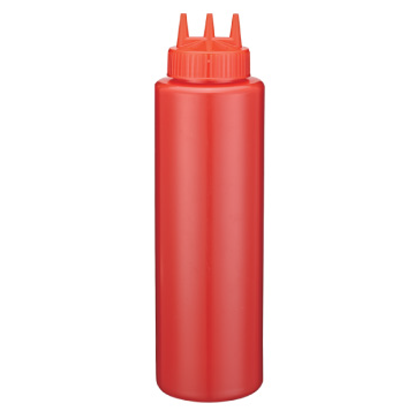 Picture of Squeeze Bottle Red With 3 Dispensers 36 oz.  (GC086-1044-3-RED)