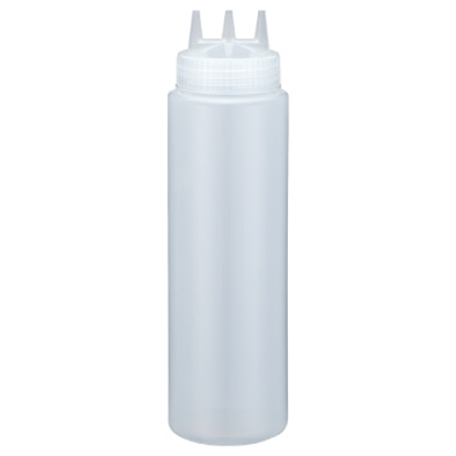 Picture of Squeeze Bottle White With 3 Dispensers 36 oz.  (GC086-1044-3-WHITE)