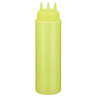 Picture of Squeeze Bottle Yellow With 3 Dispensers 36 oz.  (GC086-1044-3-YELLOW)