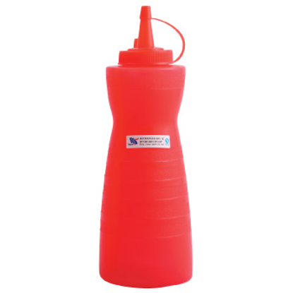 Picture of Squeeze Bottle With Ring Cover Red D7.4xH22.3 cm. 18 oz. (GC086-A-1003-1-RED)