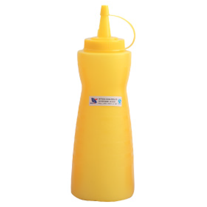 Picture of Squeeze Bottle With Ring Cover Yellow D8.4xH24.3 cm. 24 oz. (GC086-A-1004-1-YELLOW)