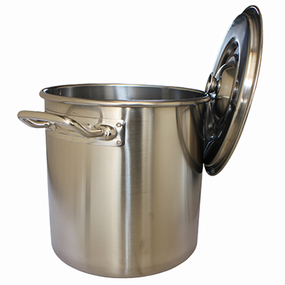 Picture of S/S Stock Pot With Cover Hanger D50xH50 cm. 98L. (GC123-LF101027)