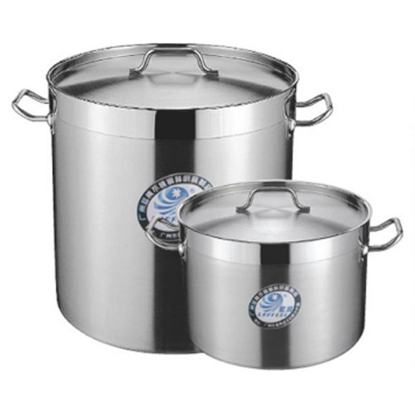 Picture of S/S Stock Pot With Cover D40xH40 cm. 50L.  (GC123-LF101069)