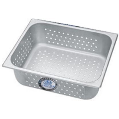 Picture of S/S Gastronorm Perforated Pan 1/2, 4 liter L32xW26.5xH6.5 cm. (GC123-LF101331-LARGE-DRAIN)