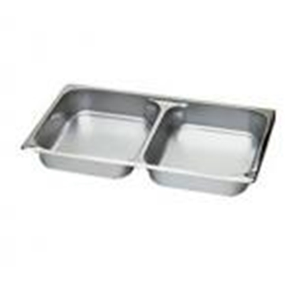 Picture of S/S Gastronorm Pan 1/1 Half Divided, 10 liter L53xW32.5xH6.5 cm. (GC123-LF101332)