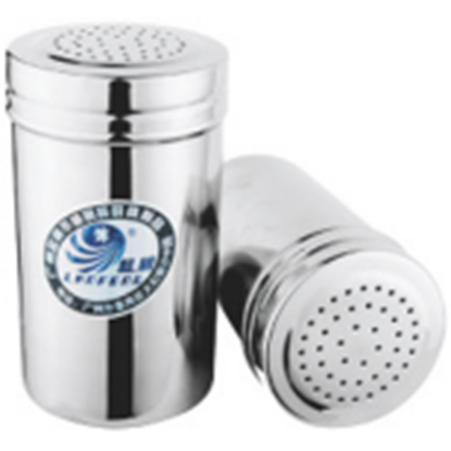 Picture of Stainless Steel Salt - Pepper - Spice - Sugar Shaker - Dredge  D7xH10.5 cm. (GC123-LF101530)