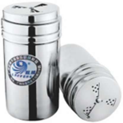 Picture of Stainless Steel Salt - Pepper - Spice - Sugar Shaker - Dredge  3 Styles D7xH10.5 cm. (GC123-LF101534)