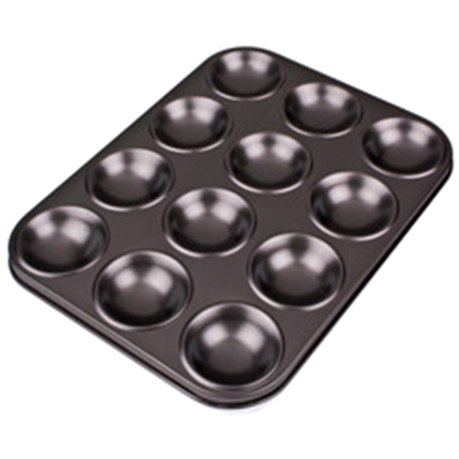 Picture of Non Stick 12 Cup Patty Cake Cupcake Pan Tin Round Base D6xH1.5 cm.  (GC280-8861)