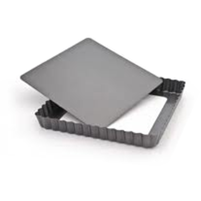 Picture of Square Fluted Tartlet Mould, Loose Bottom, Non-Stick L21xW21xH2.5 cm. (GC280-A210-4)