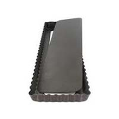 Picture of Rectangular Fluted Tartlet Mould, Loose Bottom, Non-Stick L25xW10.5xH2.5 cm. (GC280-A250-4)