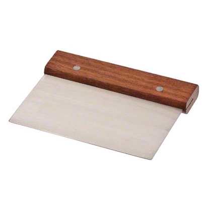Picture of Dough Scraper Divider Stainless Steel and Wooden Handle L15xW10 cm. (GC280-8124)