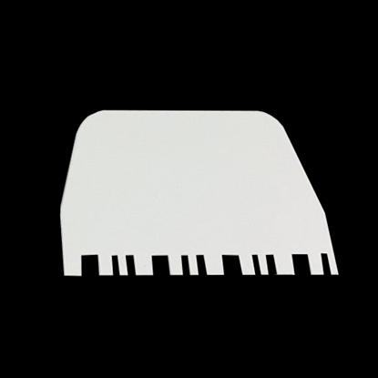 Picture of Cake Scraper Decorating Tools Comb Plastic L13.5xW9.5 cm.  (GC280-8223-3)