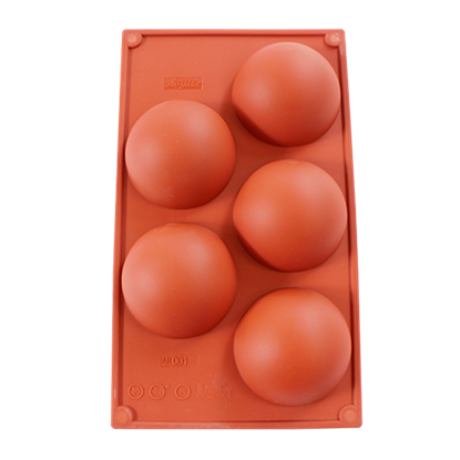 Picture of Freshware 5-Cavity Half Sphere Silicone Mould D8xH4 cm. (GC280-7001)
