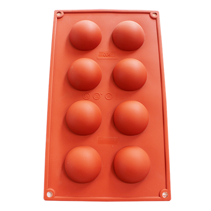 Picture of Freshware 8-Cavity Half Sphere Silicone Mold D5xH2.5 cm. (GC280-7004)