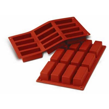 Picture of Freshware Silicone Narrow Loaf Baking Molds 12 Cavities L7.9xW2.9H3.0 cm. (GC280-7026)