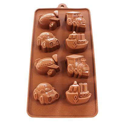 Picture of Freshware 8-Cavity Silicone Chocolate Mold Vehicle L5xW4xH2 cm. (GC280-9653)