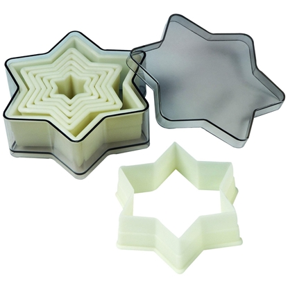 Picture of Nylon Cookie Cutter Set Star of David - 7 Piece Set (GC280-9102)