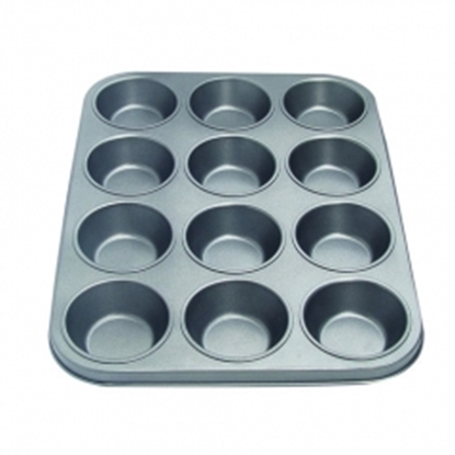 Picture of 12 Cavities Muffin Pan Non-Stick L37.5xW28.8x3.2 cm. (GC280-8516A)