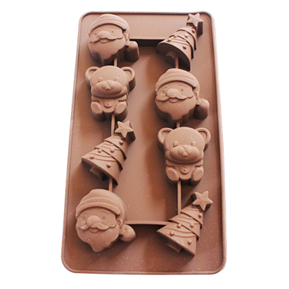 Picture of Freshware Silicone Chocolate Mould Christmas 8 Cavities L4xW5 cm. (GC280-9146)