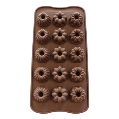 Picture of Freshware Silicone Chocolate Assorted Shape 15 Cavities D2.8xH1.9 cm. (GC280-9296)
