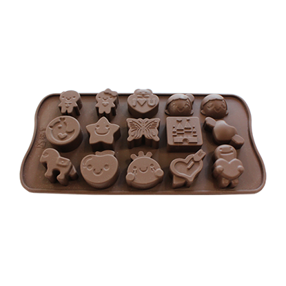 Picture of Freshware Silicone Chocolate Mold For Kids 15 Cavities L3.5xW3 cm. (GC280-9461)